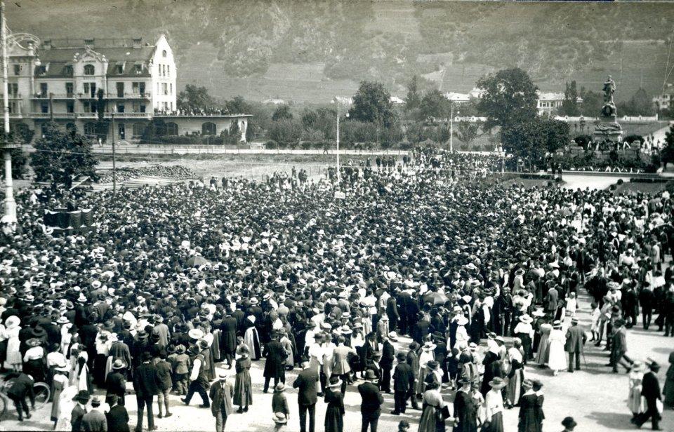 Die große Kundgebung für die Autonomie Südtirols am 9. Mai 1920: »Los von Trient !«