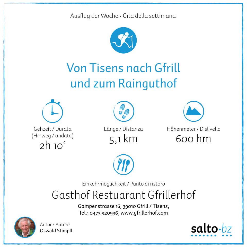 Von Tisens Zum Rainguthof Salto Bz