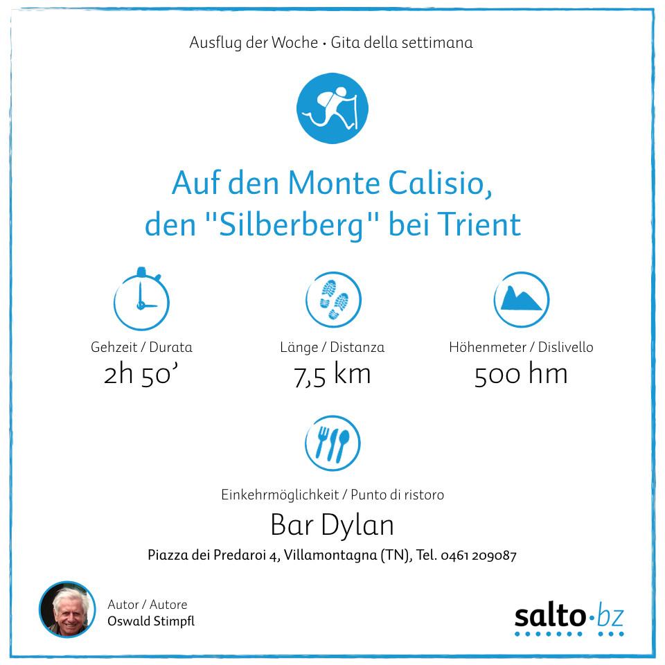 Ausflug der Woche monte Calisio Trento