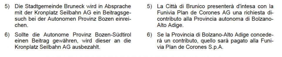 Auszug aus dem Brunecker Gemeinderatsbeschluss vom 22. Februar 2017
