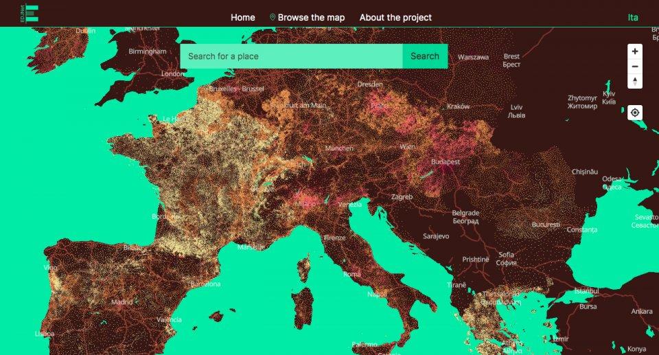 Mappa climatechange.europeandatajournalism.eu