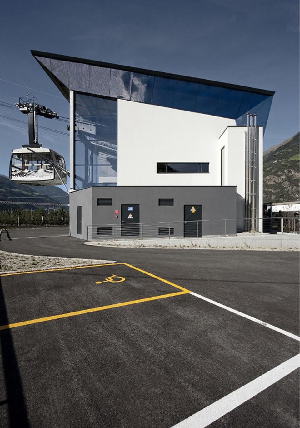 Seilbahn Aschbach, Vigiljoch, Algund, Architects Willeit Niederstaetter
