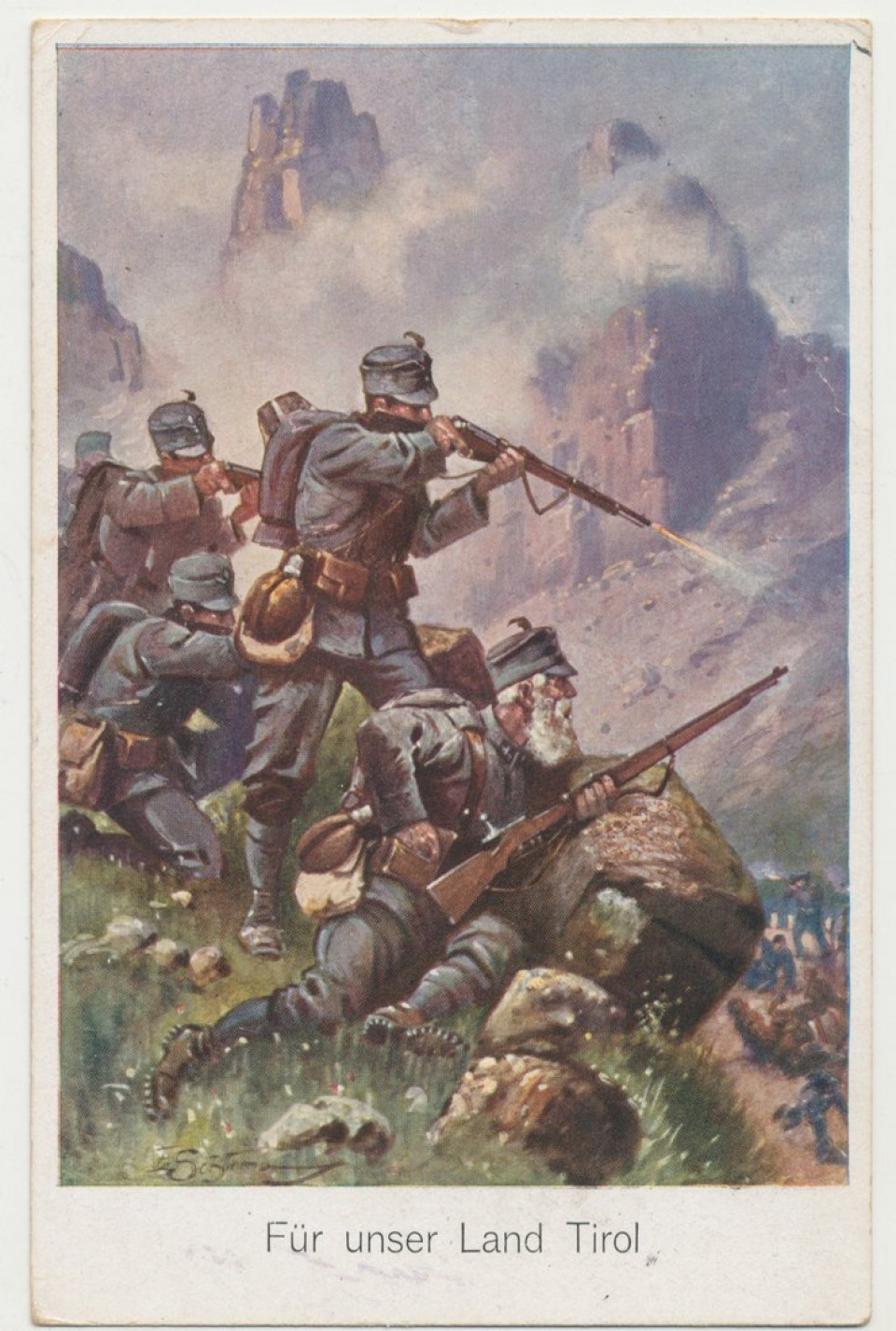 Standschützen - Postkarte