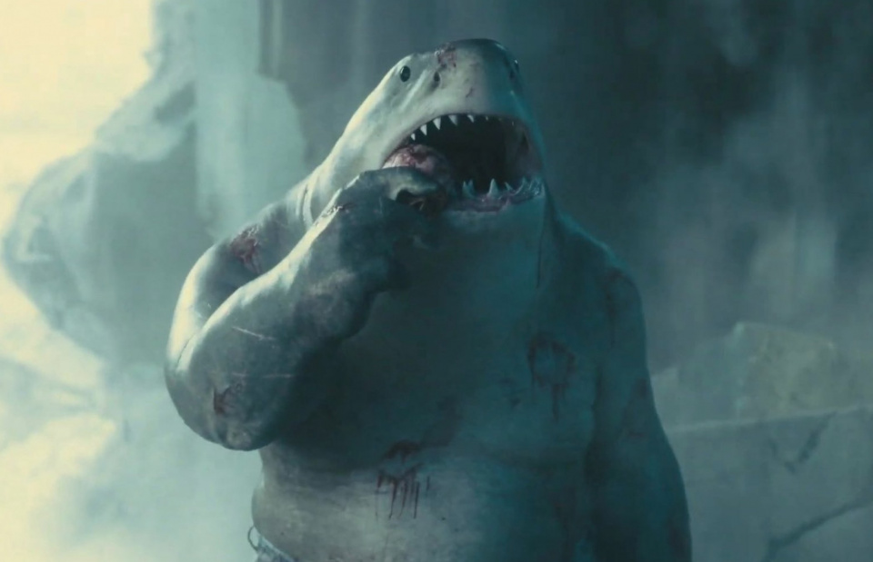 Somewhat simple-minded, but an integral part of the team: the humanoid shark named Nanaue.