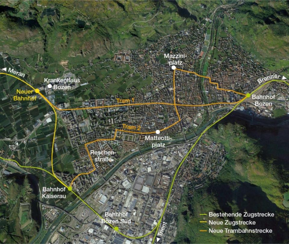 Ein Bahnnetz für Bozen | ff August 2017