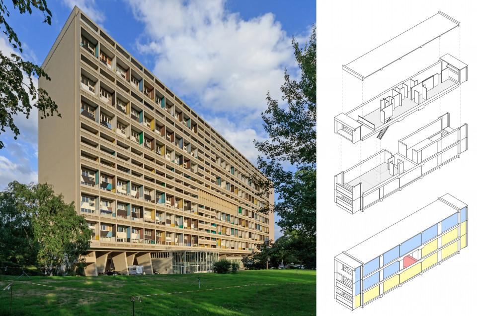 Unité d'Habitation (Corbusierhaus) in Berlin, Le Corbusier 1958