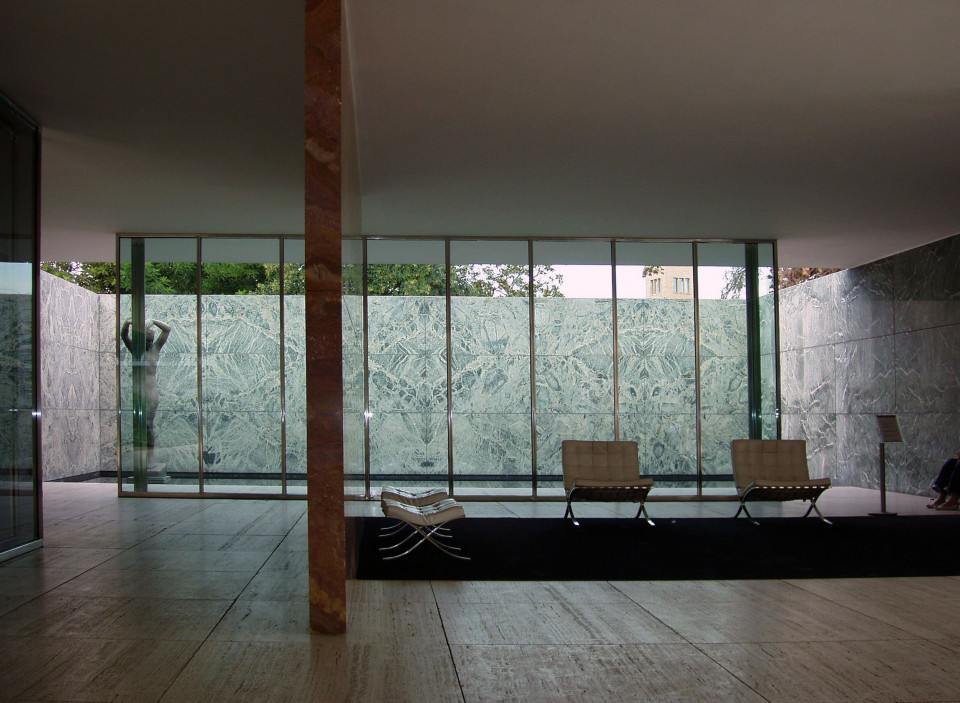 Barcelona Pavillon in Barcelona (Rekonstruktion), Innenraum