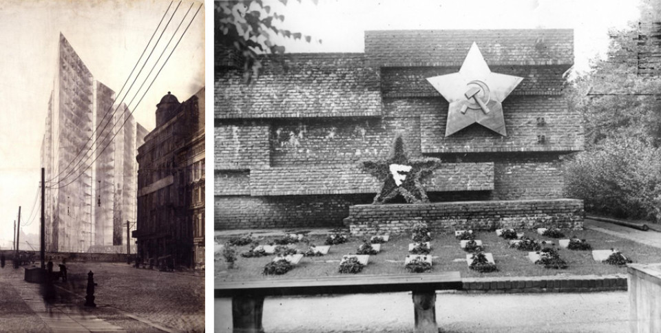 Hochhausentwurf in Berlin und das Revolutionsdenkmal in Berlin, Mies van der Rohe