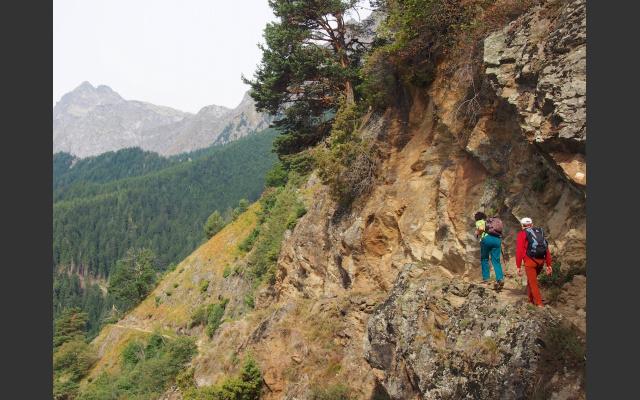 Auf dem Meraner Höhenweg in Richtung Leiter Alm