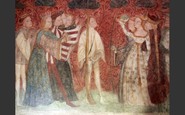 Mittelalterliche Fresken in Runkelstein
