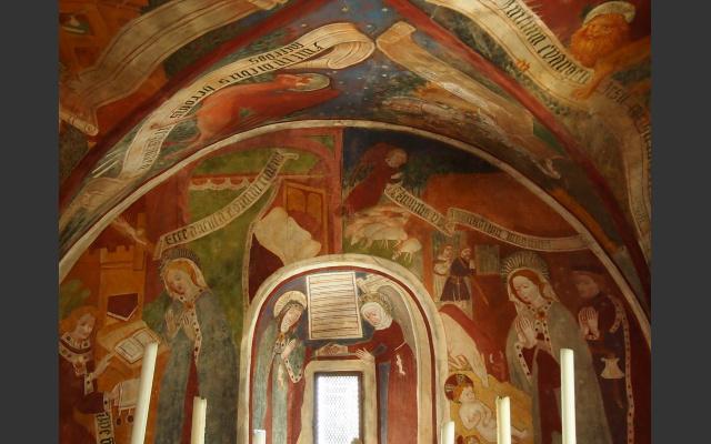Das freskierte Kircheninnere