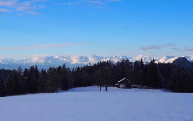Die Heinzenalm und die Vinschger Berge