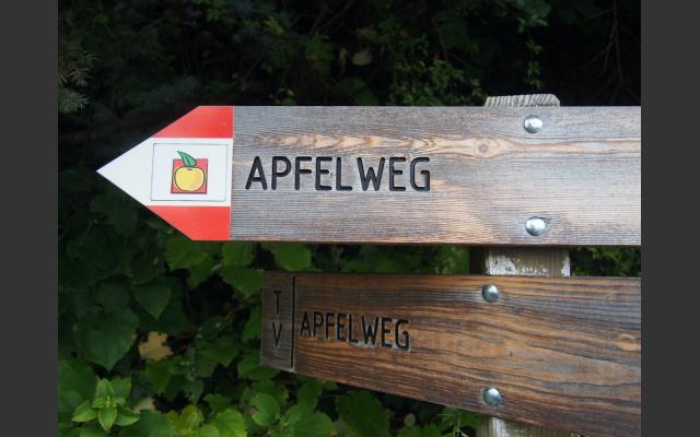 Das Symbol des Apfelweges