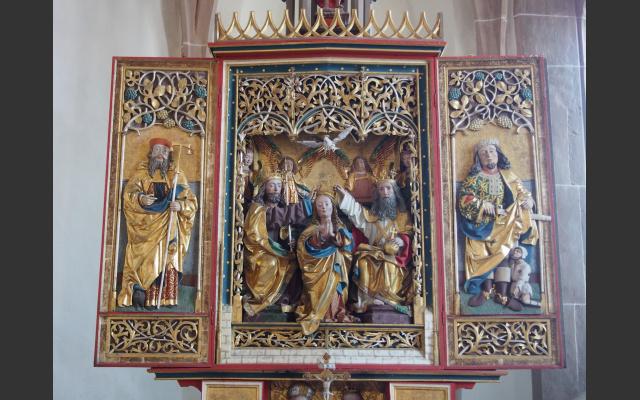 Gotischer Flügelaltar in Dreikirchen