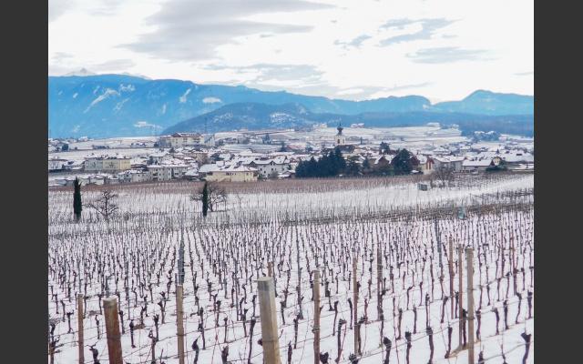 Girlan und Schnee – ein ungewohnter Anblick