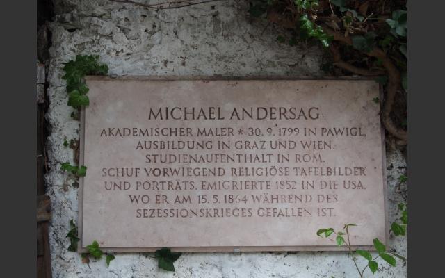 Gedenktafel an Michael Andersag