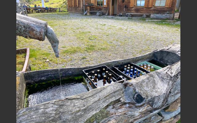Der Getränkekühlschrank auf der Klosteralm