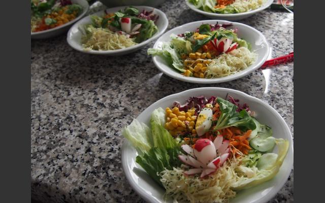 Frühlingssalate beim Wiesler