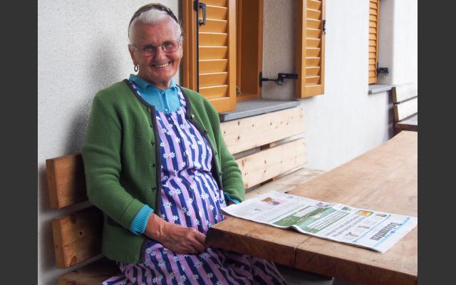 Die Altbäuerin beim Winkler in Sauders