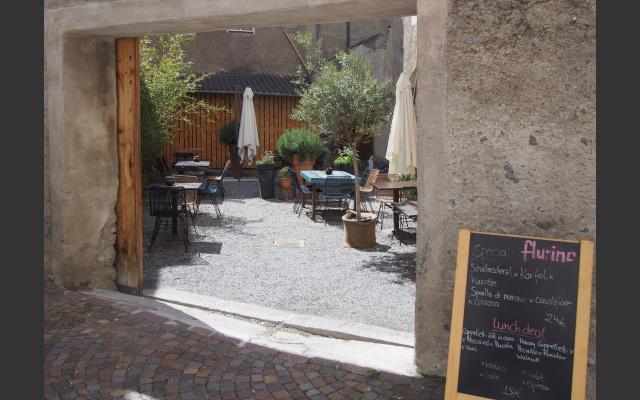 Innenhof vom Restaurant Flurin
