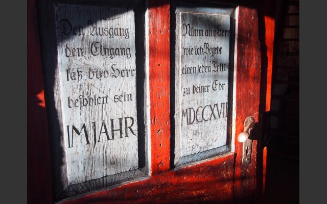 Bemalte Haustür beim Breitner 2