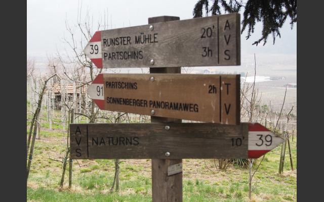 Gut markierte Wege am Sonnenberg