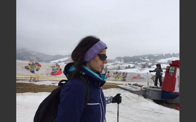 Virginia Raggi sull'Alpe di Siusi