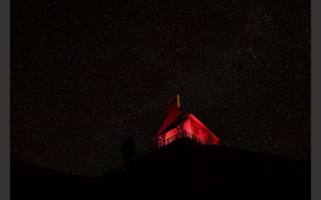Night of Light: St. Hippolyt-Kirchlein auf Glaiten in Passeier