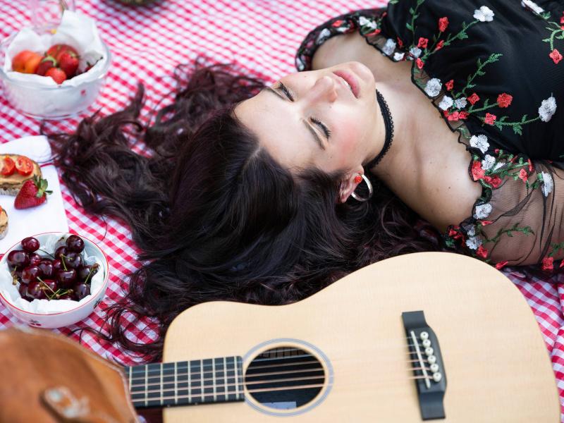 Giulia Martinelli während dem Video-Dreh 2021