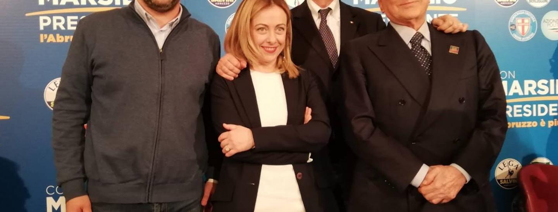 Salvini, Meloni, Marsilio, Berlusconi