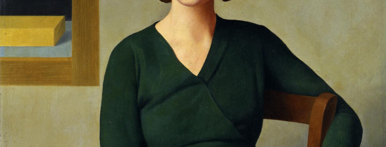 Antonio Donghi, donna al caffe, 1931