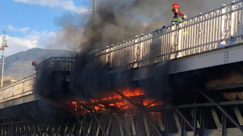incendio ponte Talvera bolzano