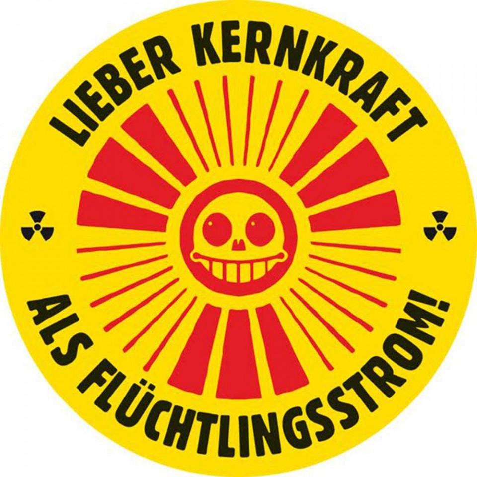 Anti Merkel Aufkleber