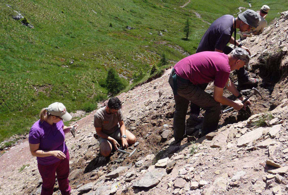 Paläontologen in den Dolomiten