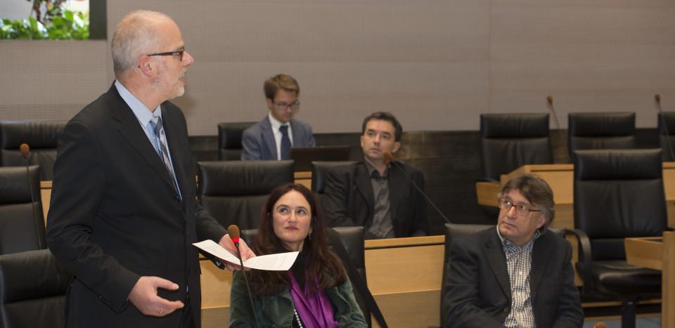 Hans Heiss im Landtag