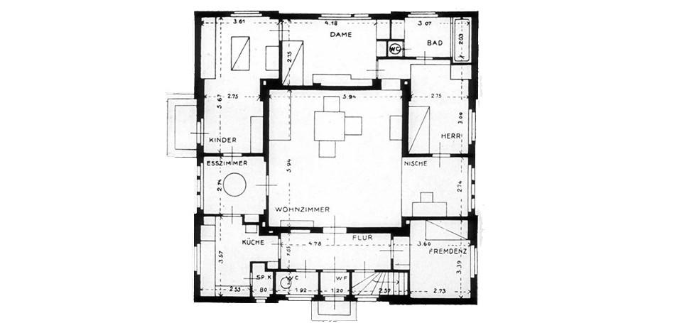 Grundriss Haus am Horn in Weimar