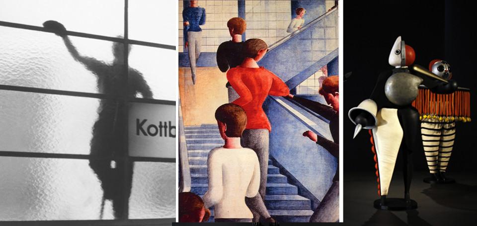 Fensterputzer am Kottbusser Tor; Die Bauhaustreppe; Kostüme des Triadischen Balletts