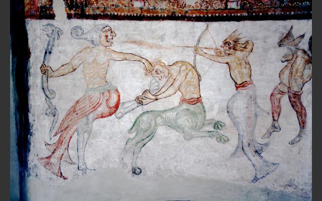 St. Jakob, die romanischen Fresken